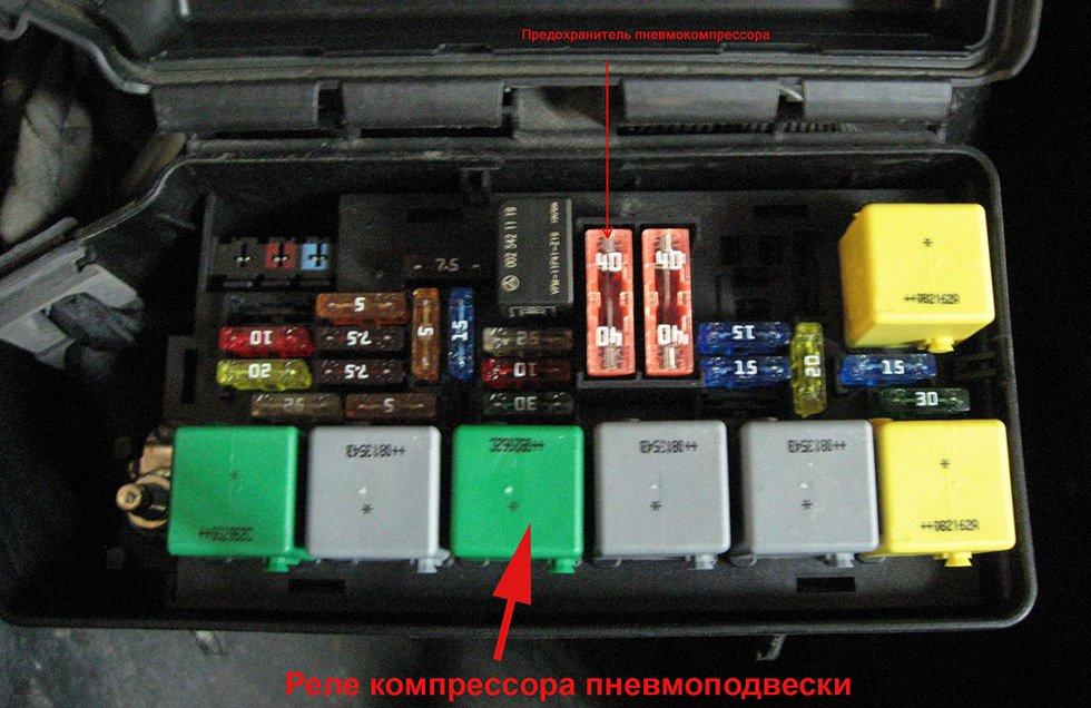 реле компрессора пневмоподвески автомобиля