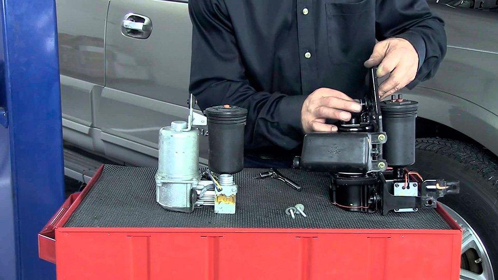 восстановление компрессора подвески в техцентре