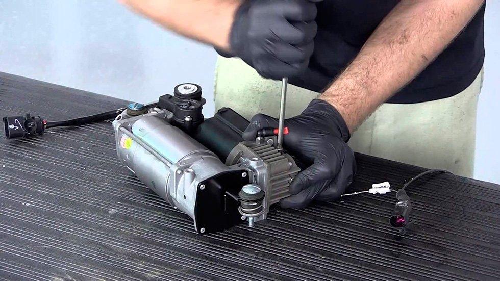 ремонт компрессора подвески в москве