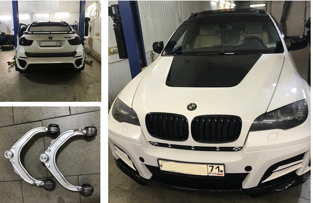 ремонт рычагов BMW X6 2008