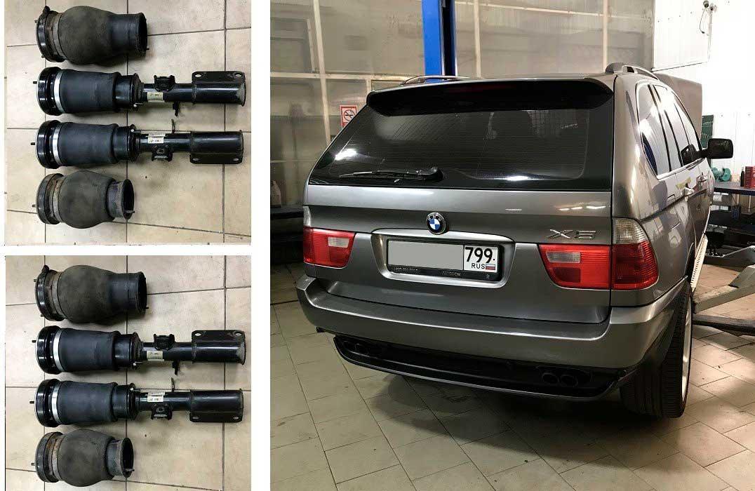 восстановление пневмобаллона BMW X5 E53