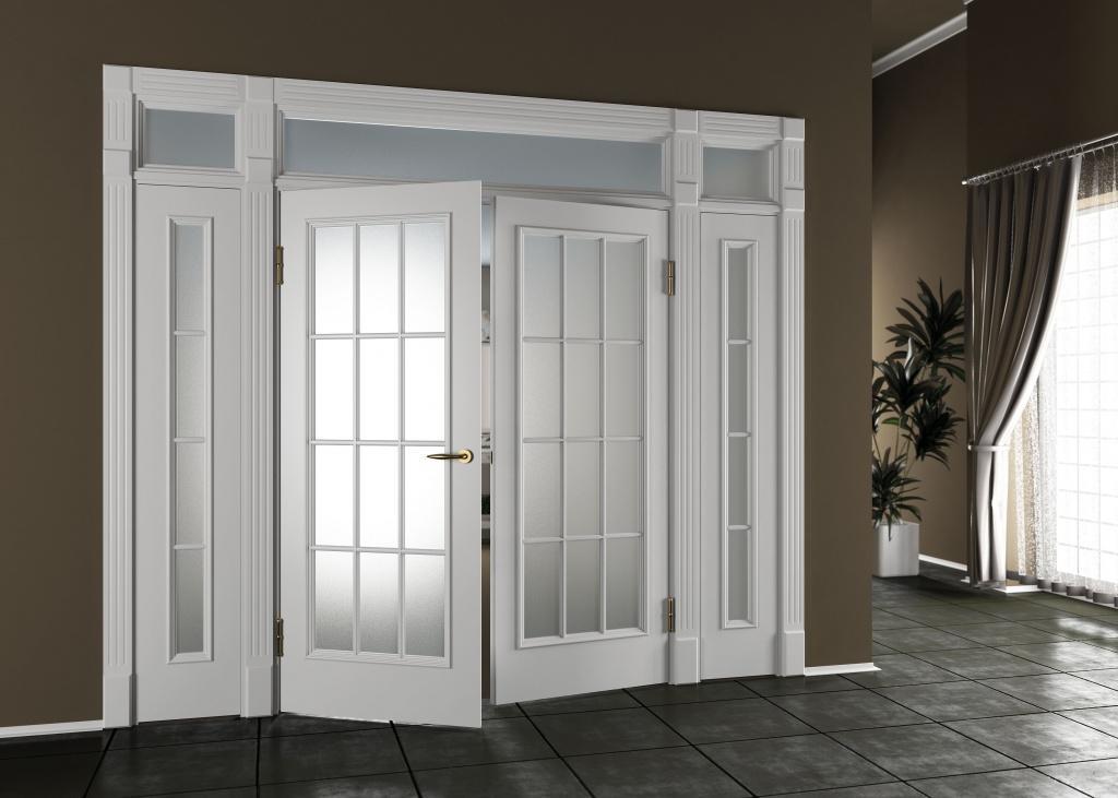 духстворчатые двери в интерьере