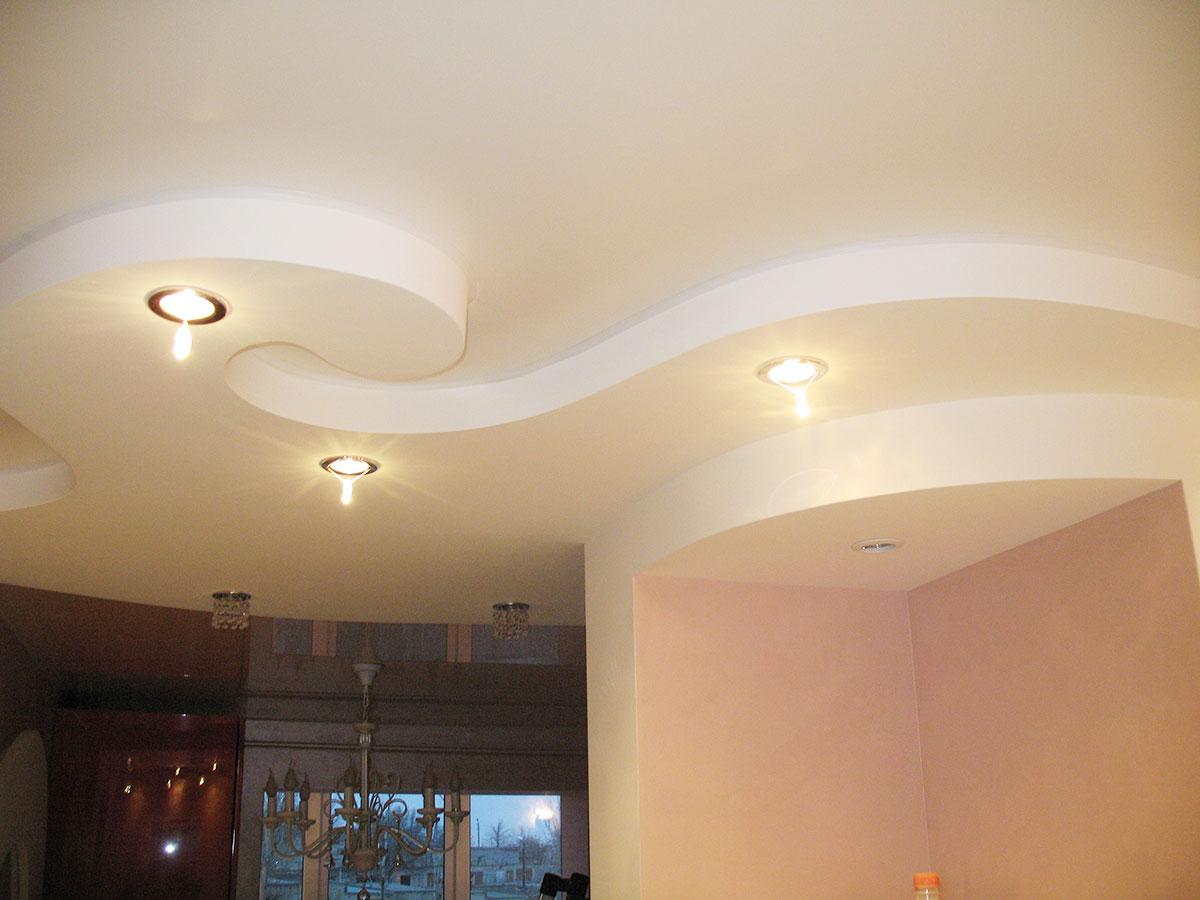 Двухуровневый матовый потолок